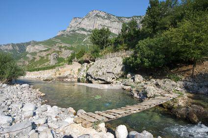 Creek in Commune Kelmend, Albania