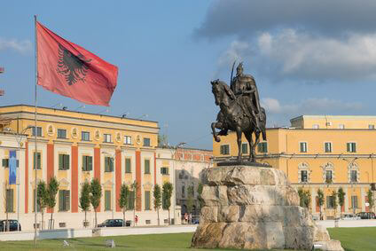 Albanien - Square Skanderbeg In Tirana